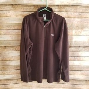 The North Face TKA100 Brown 1/4 Zip Fleece XL EUC